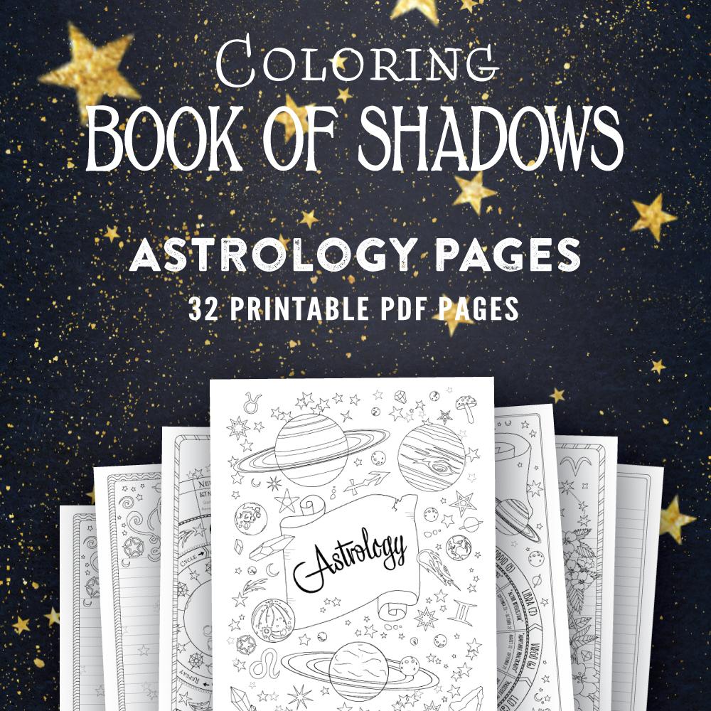 Epic image inside printable book of shadows
