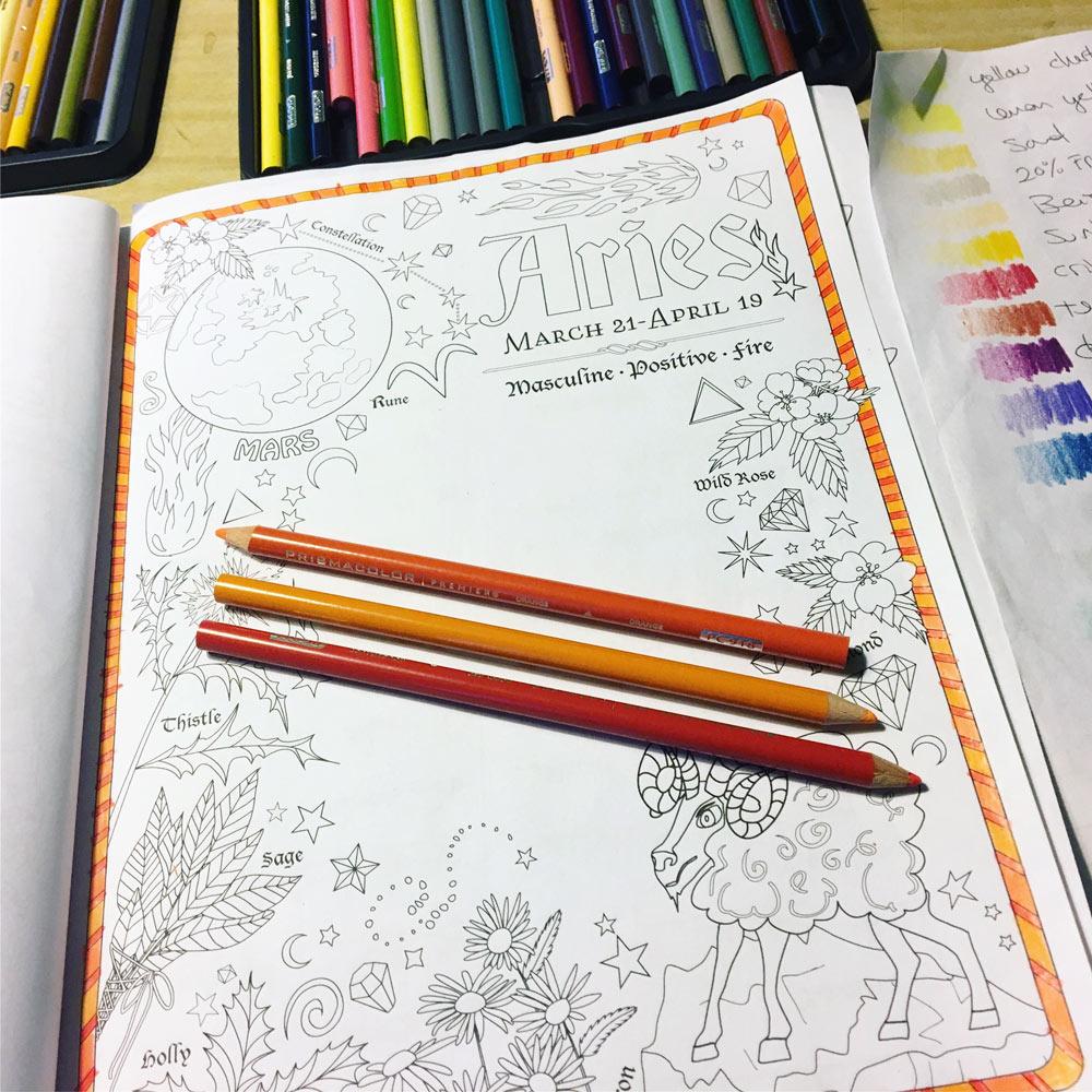 Aries Zodiac Coloring Tutorial