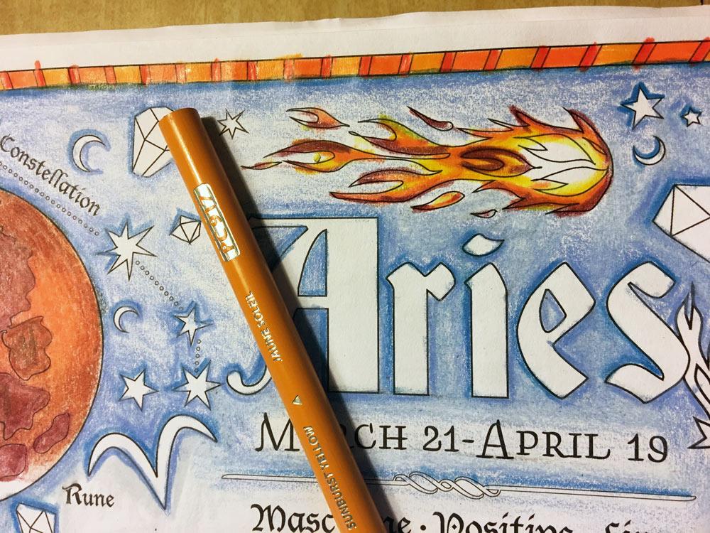 Fire Coloring Tutorial Colored Pencil