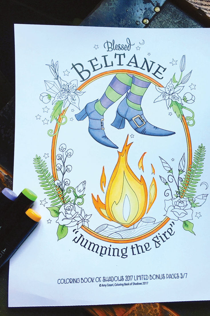 Beltane-Coloring-Page - Coloring Book of Shadows