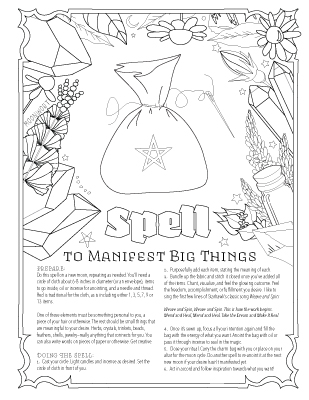 Book Of Spells Coloring Book Of Shadows