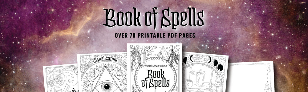 Book Of Spells Printable Coloring Pages Coloring Book Of