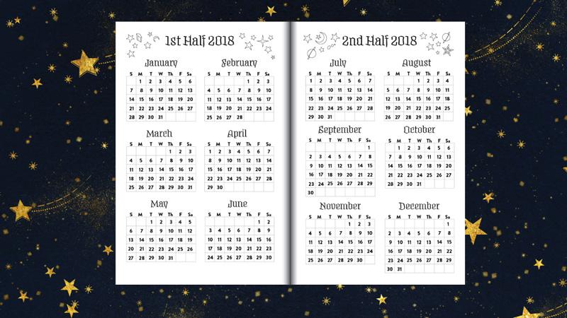 Year Calendar 2018 Planner