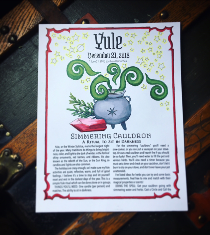 Yule Cauldron Coloring How-To