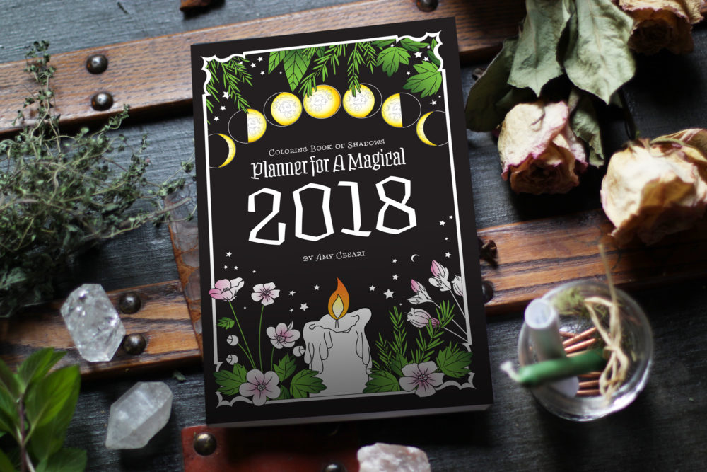 coloring book of shadows planner for a magical 2018 magical planner coloring pages from january 2018