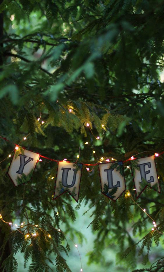 Yule Solstice Banner