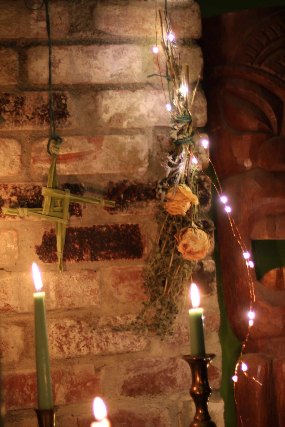 My Hearthside Imbolc Altar and Brigid 39 s Cross Coloring