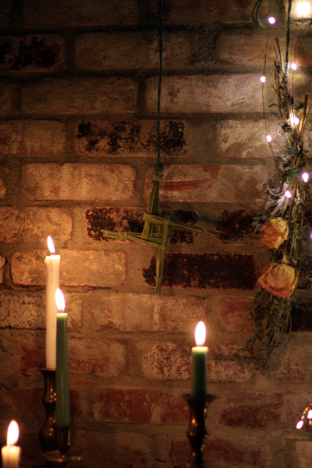 My Hearthside Imbolc Altar and