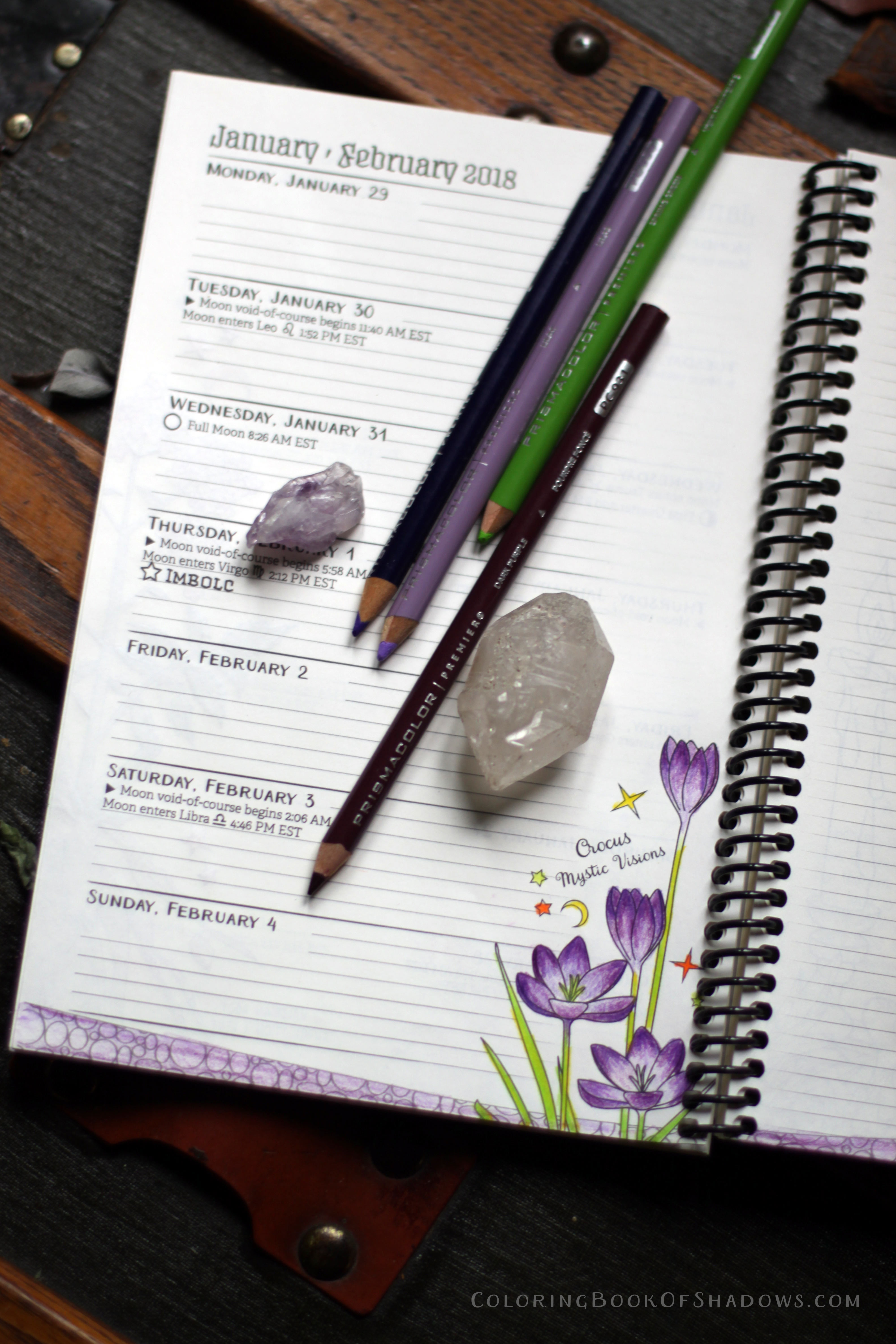 Magical Planner Coloring Pages