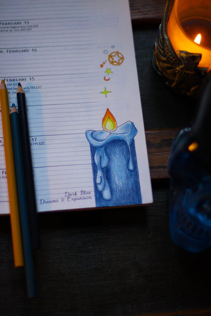 How to Color a Dripping Candle