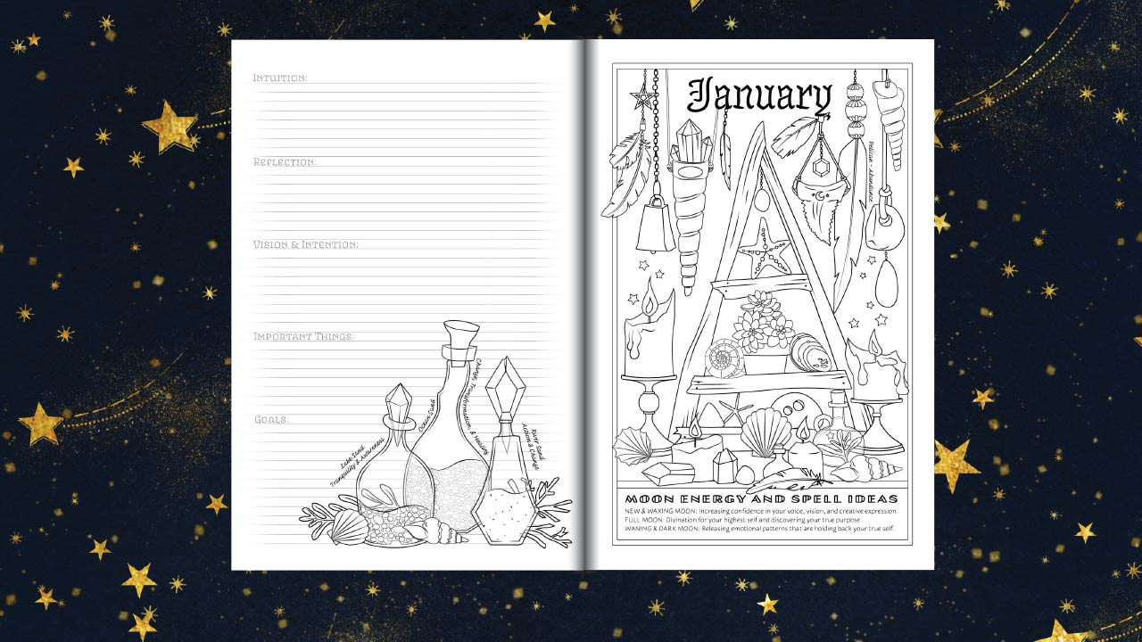 Weekly Calendar Spread : Southern hemisphere planner for a magical coloring