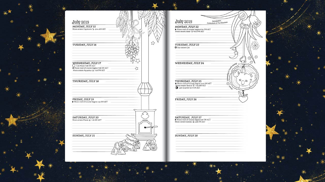 southern hemisphere planner for a magical 2019