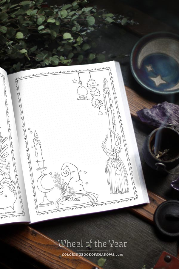 Wheel Of The Year Coloring Book Of Shadows